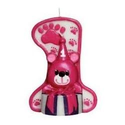 Maxi candela 1 compleanno rosa