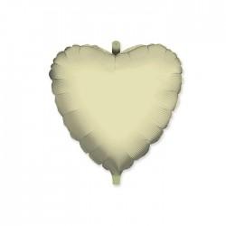Pall.Mylar Cuore Bianco cm.45