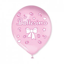 20 Palloncini  Battesimo rosa