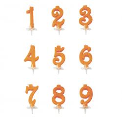 Candela numerale arancione...