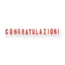 Candeline Congratulazioni cm.4