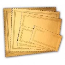 Sottotorta dorato rettangolare