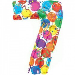 Pallone mylar numerale n. 7...