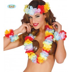 SET HAWAIANO MULTICOLOR EXTR